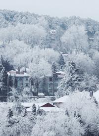 一组庐山下雪时的美景拍摄图片欣赏