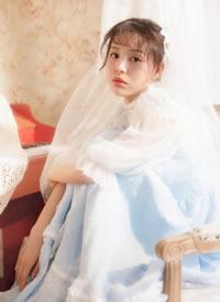 cos水蓝古典婚纱美女图片欣赏