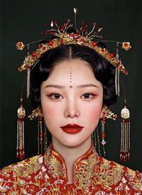 大美中式新娘造型,婉约动人