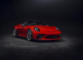 红色保时捷Porsche 911 Speedster