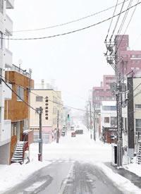 下雪后的纯白世界的拍摄图片欣赏