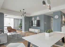 110平彩色墙面北欧、现代简约混搭风格装修效果图欣赏