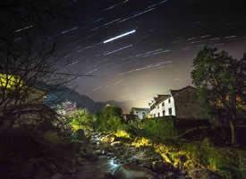 昨晚的流星雨大家都许愿了 美丽的夜景图片