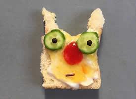 一嘴超級有趣的創意面包吐司圖片欣賞