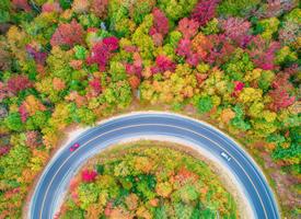 高空俯视自然风景图片桌面壁纸