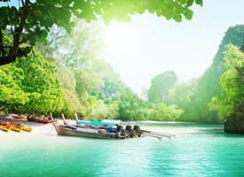 瑰丽山川河流自然风景桌面壁纸