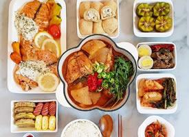 一组美味丰富的家常便饭图片欣赏
