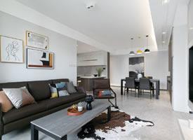 120平 简约三居室装修效果图欣赏