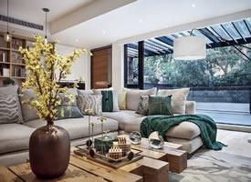 200㎡现代风格别墅,暖暖的木色