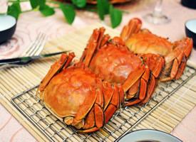 一组美味阳海鲜澄湖大闸蟹图片