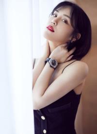 韩丹彤深v吊带裙性感图片