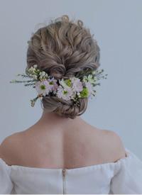 九款美丽大方的森系新娘发型图片