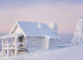 冬天皑皑白雪高清自然风景图片欣赏
