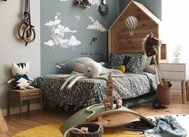 一組可愛浪漫的兒童房裝修效果圖欣賞