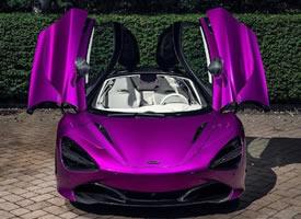 一组闷骚紫的迈凯伦720S图片欣赏