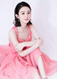 赵丽颖白色礼服长裙性感写真图片