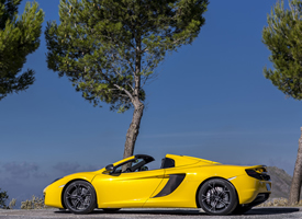 一组黄色迈凯轮敞篷跑车图片欣赏