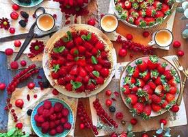 满屏都是红红的草莓看着都会很舒服