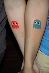 情侣纹身:适合恋人的一组成对纹身图案