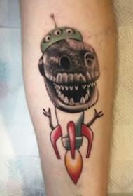 可爱的一组卡通恐龙素材的纹身