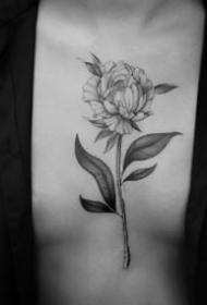 18张简约的黑灰小纹身图案作品