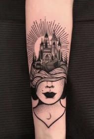 适合纹在腿和手臂上的一组性感纹身