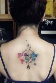 好看的的一组彩色小清新纹身图案9张