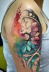 五彩斑斓的一组炫彩纹身作品欣赏