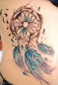 很漂亮的一组捕梦网纹身作品图