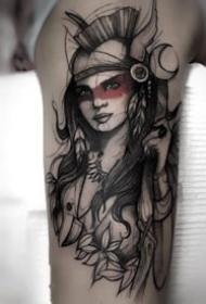 18张精品欧美暗黑风格纹身图案