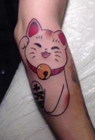 很心爱的的一组小招财猫纹身图案