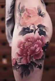 水墨风格的中国传统纹身作品图片