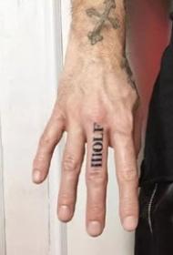 9张手指上的小清新黑灰纹身图片