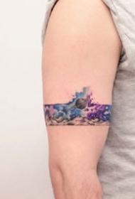 18张小清新的臂环手环纹身图案