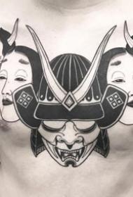 一波日式风格的黑灰个性纹身欣赏