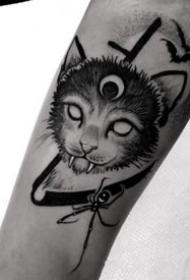 暗黑风格的一套黑色纹身作品观赏