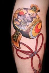 日式传统的小福鼓纹身图案9张