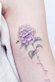 唯美的一组适合女生的小清新彩色纹身