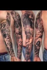 9组欧美写实风格的大花臂纹身作品