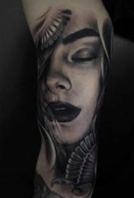一波优良欧美写实黑灰纹身图片