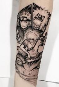 动漫火影忍者的角色鸣人佐助卡卡西纹身图片
