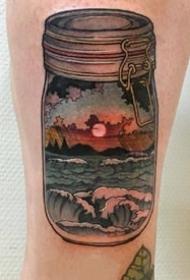 一组玻璃瓶瓶罐罐的纹身图片欣赏