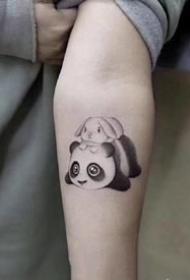 萌萌哒的一组国宝熊猫的纹身手稿图案