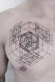 个性的一组几何图形纹身图案9张