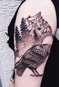 很好看的大臂腿部等个性动物纹身图