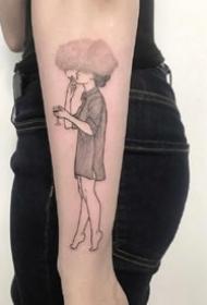 很有创意的一组无头人物纹身图片