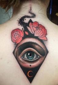 个性的一组眼睛纹身作品图片