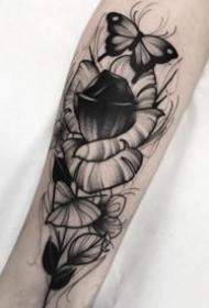 18张好看的暗黑灰创意纹身图案