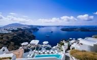 蓝色的爱琴海风景图片_14张