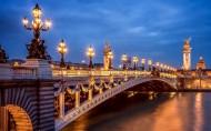 巴黎城市灯火辉煌的夜景图片_29张